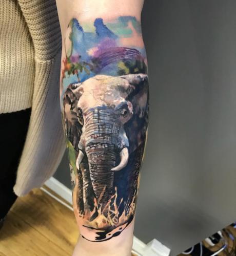 Słoń realistyczny