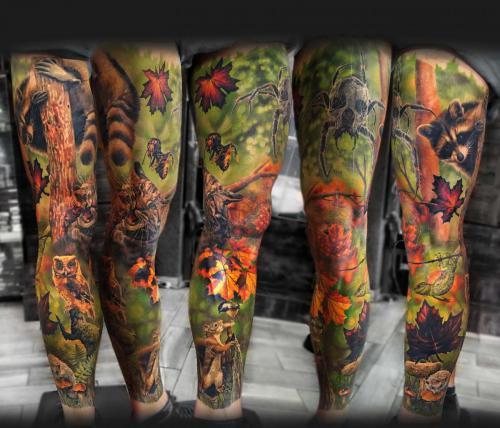 Tatuaż realistyczny w kolorze