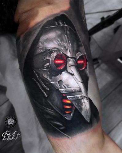 Tatuaż realistyczny czarno szary